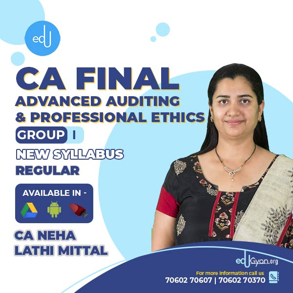 CA Final Advanced Auditing By CA Neha Lathi Mittal