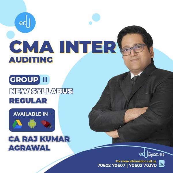 CMA Inter Auditing By CA Raj K Agrawal