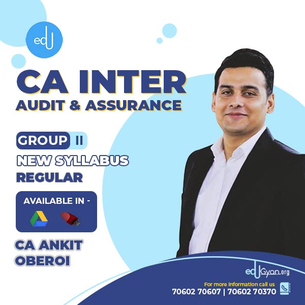 CA Inter Audit & Assurance By CA Ankit Oberoi