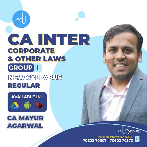 CA Inter Corporate & Other Laws By CA Mayur Agarwal