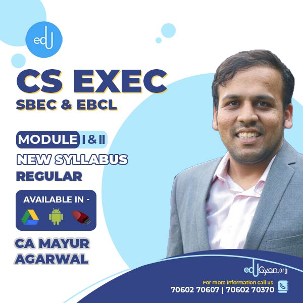 CS Executive SBEC & EBCL Combo By CA Mayur Agarwal