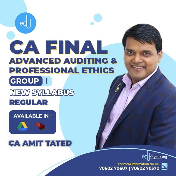 CA Final Advanced Auditing By CA Amit Tated