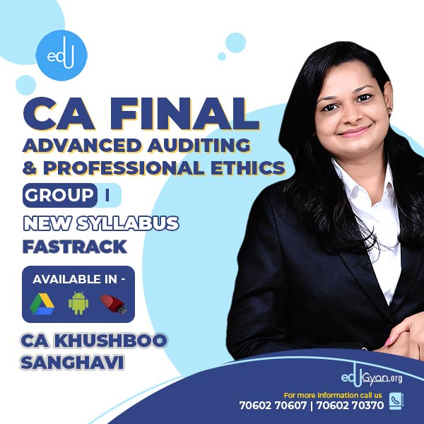 CA Final Advanced Auditing Fast Track By CA Khushboo Sanghavi