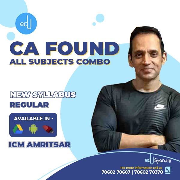 CA Foundation All Subjects Combo By ICM Amritsar