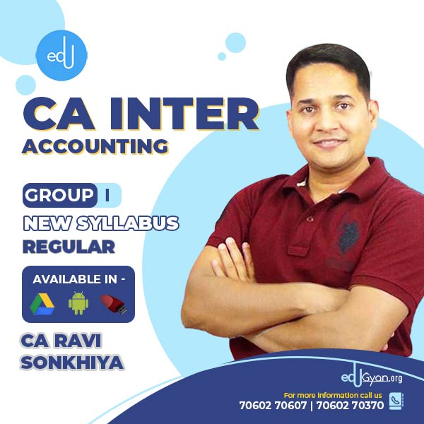 CA Inter Accounting By CA Ravi Sonkhiya