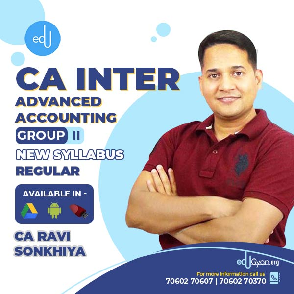 CA Inter Advanced Accounting By CA Ravi Sonkhiya