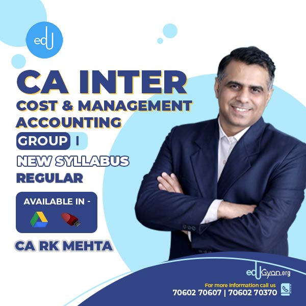 CA Inter Cost & Management Accounting By CA RK Mehta