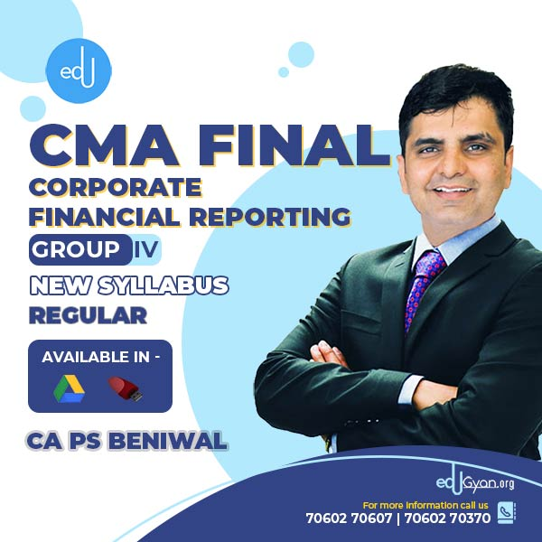 CMA Final Corporate Financial Reporting By CA PS Beniwal