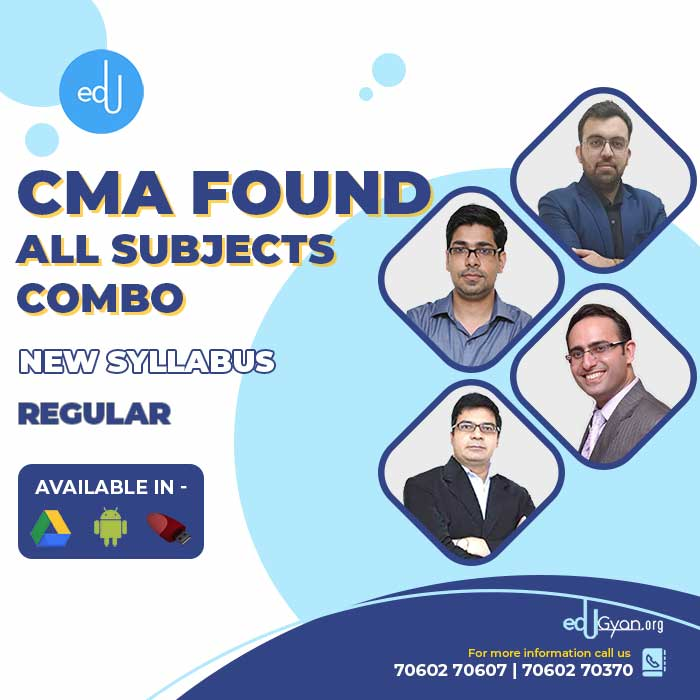 CMA Foundation All Subjects Combo By Concept Online Classes
