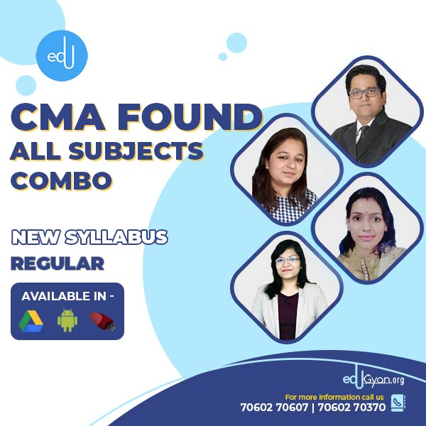 CMA Foundation All Subjects Combo By SAH Academy