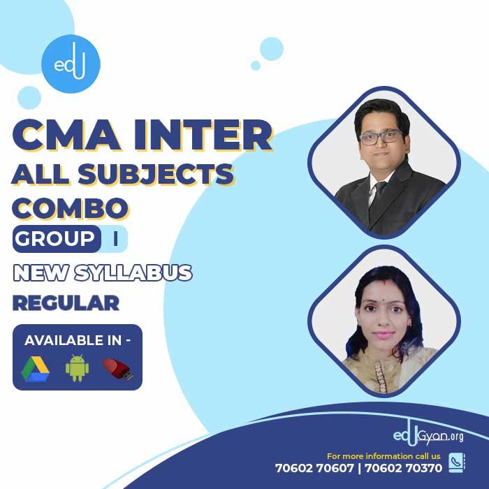 CMA Inter Group- I All Subjects Combo By SAH Academy