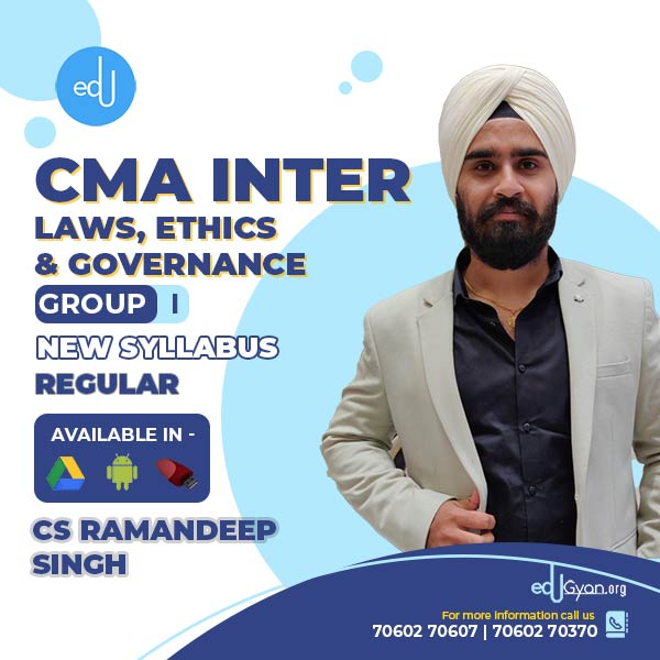 CMA Inter Laws, Ethics & Governance By CS Ramandeep Singh
