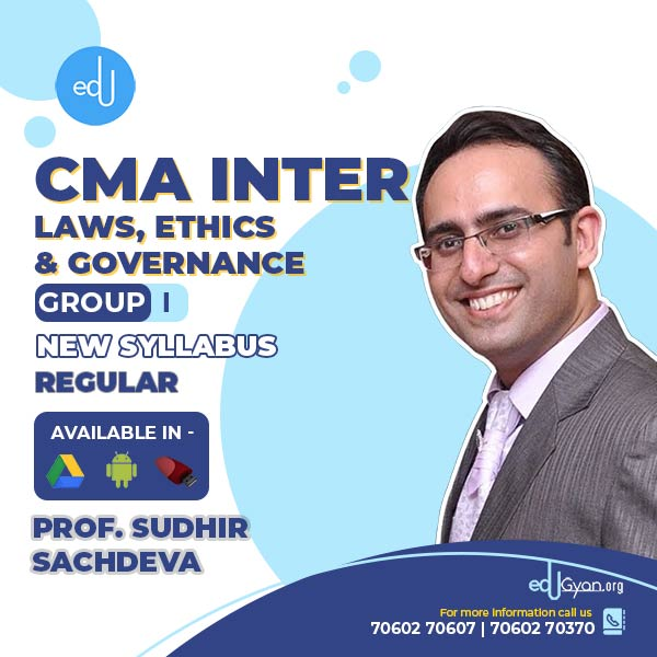 CMA Inter Laws, Ethics & Governance By Prof Sudhir Sachdeva