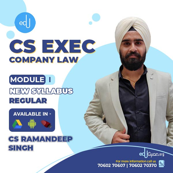 CS Executive Company Law By CS Ramandeep Singh