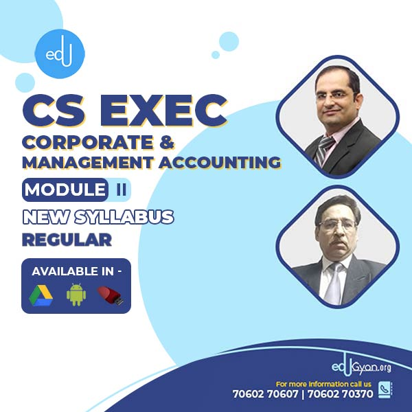 CS Executive Corporate & Management Accounting (CMA) By CMA Chander Dureja & Sanjay Welkins