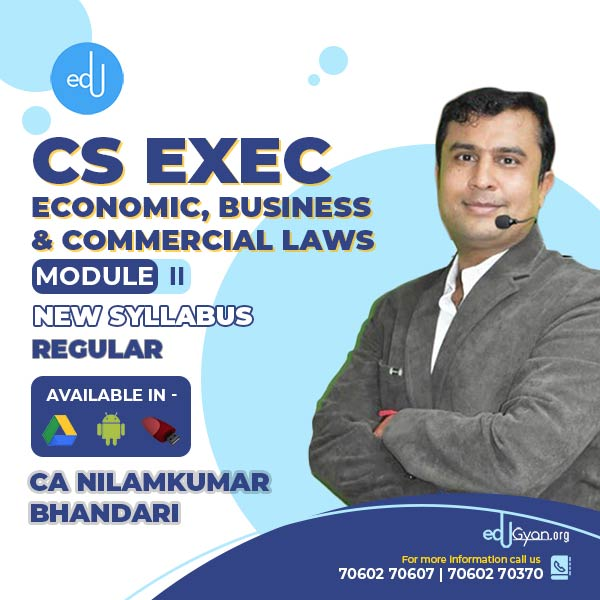 CS Executive Economic, Business & Commercial Laws By CA Nilamkumar