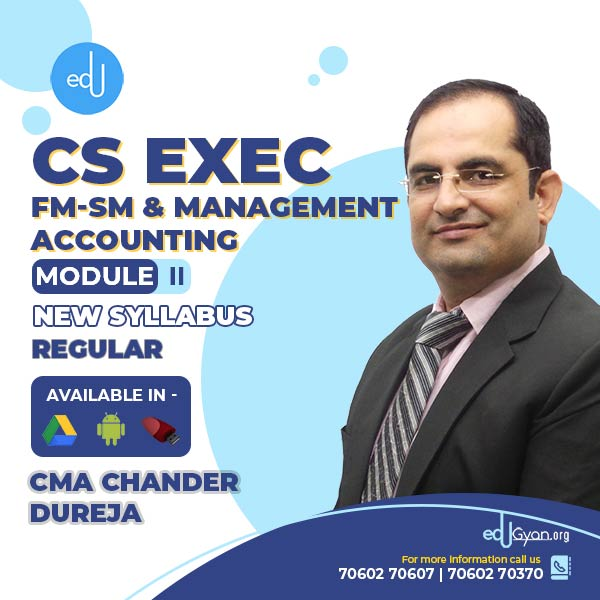CS Executive FM-SM & Management Acc. Combo By CMA Chander Dureja