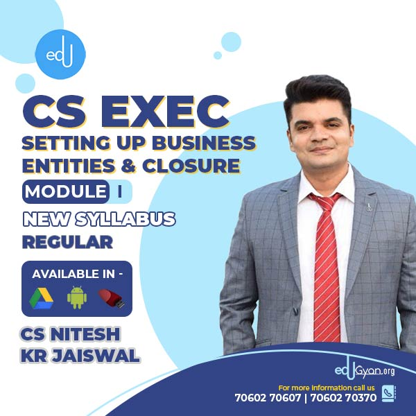 CS Executive Setting Up Business