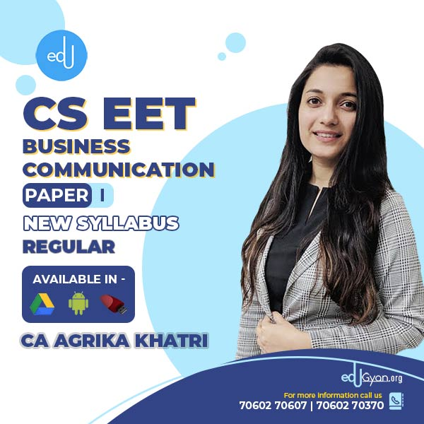 CSEET Business Communication By CA Agrika Khatri
