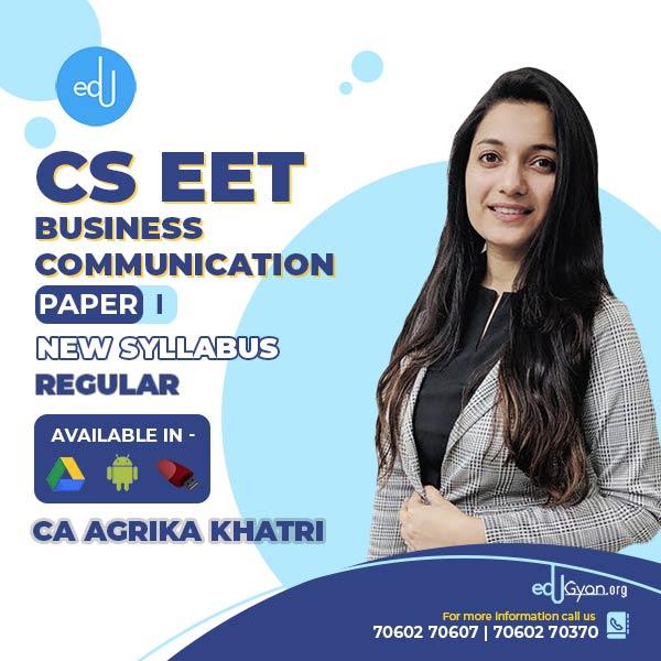 CSEET Business Communication By CA Agrika Khatri
