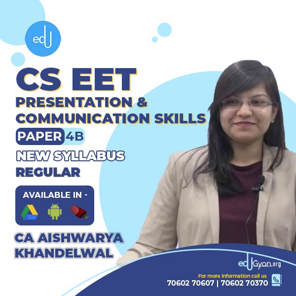 CSEET Presentation & Communication Skills By CA Aishwarya Khandelwal