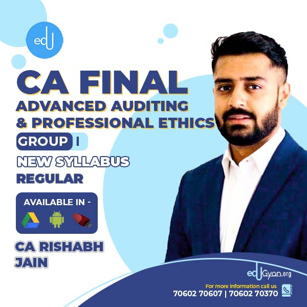 CA Final Advanced Auditing By CA Rishabh Jain
