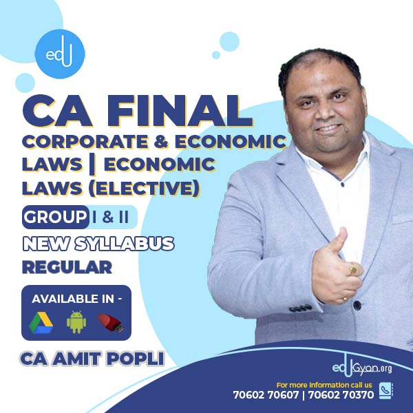 CA Final Corporate & Economic Laws | Economic Laws Elective Combo By CA Amit Popli