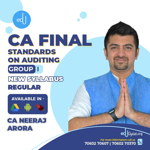 CA Final Standards on Auditing By CA Neeraj Arora