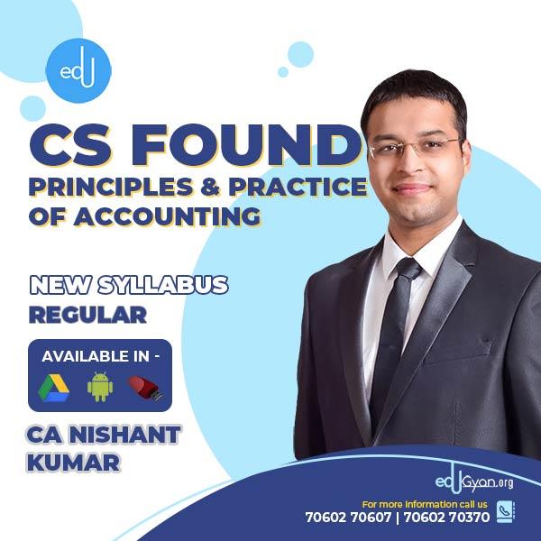 CA Foundation Principles & Practice of Accounting By CA Nishant Kumar