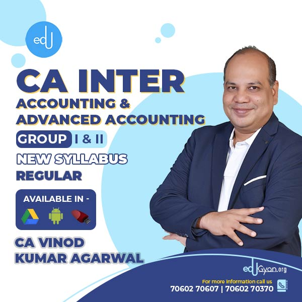 CA Inter Accounting & Advanced Accounting Combo By CA Vinod Kumar Agarwal
