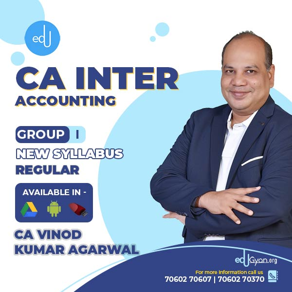 CA Inter Accounting By CA Vinod Kumar Agarwal