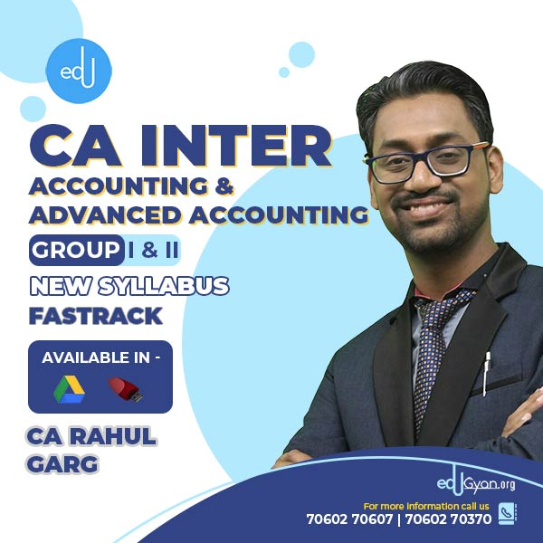 CA Inter Advanced Accounting & Accounting Fast Track Combo by CA Rahul Garg
