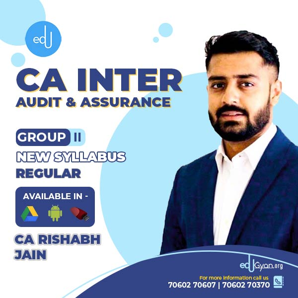 CA Inter Audit & Assurance By CA Rishabh Jain