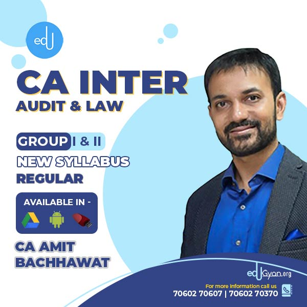 CA Inter Audit & Law Combo By Amit Bachhawat