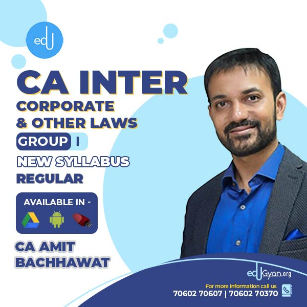 CA Inter Corporate & Other Laws By CA Amit Bachhawat