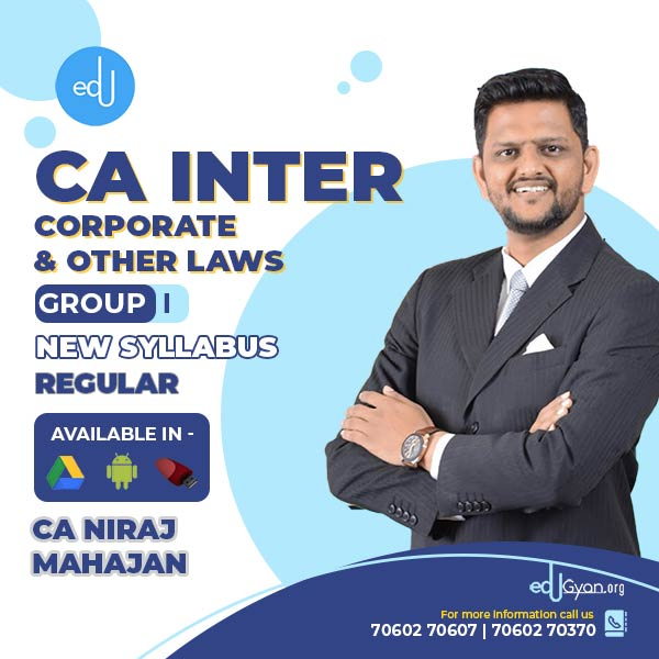 CA Inter Corporate & Other Laws By CA Niraj Mahajan