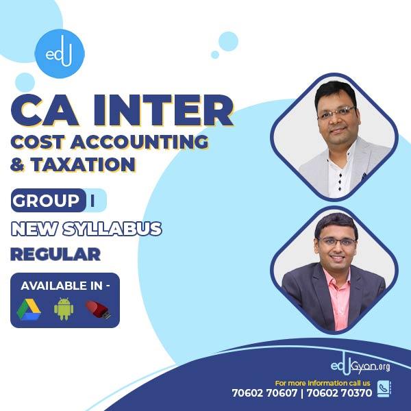 CA Inter Cost & Taxation Combo By CA Satish Jalan & Nikunj Goenka