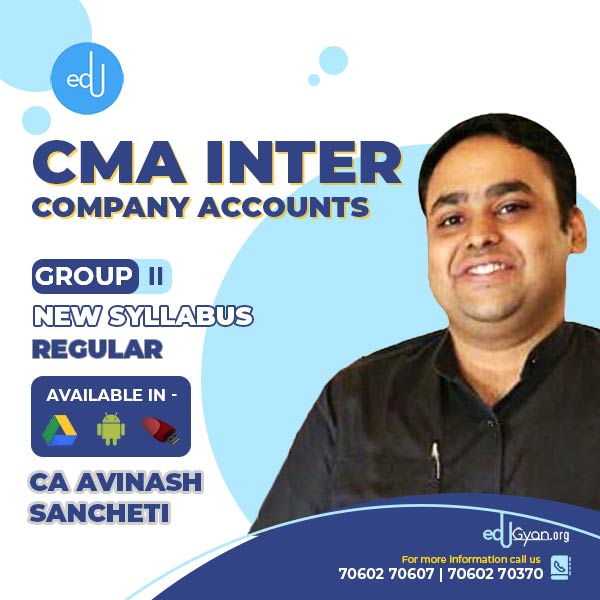 CMA Inter Company Accounts By CA Avinash Sancheti