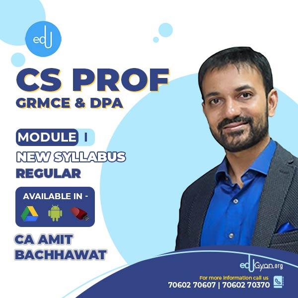 CS Professional Module- I (GRMCE & DPA) Combo By CA Amit Bachhawat