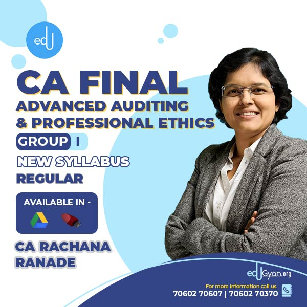 CA Final Advanced Auditing By CA Rachana Ranade