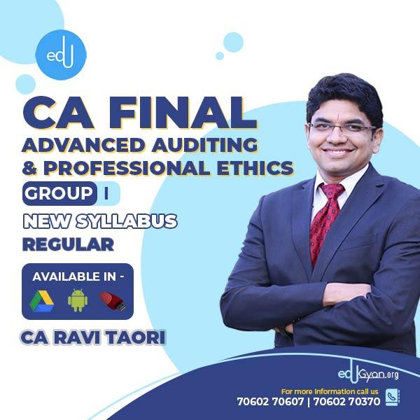 CA Final Advanced Auditing By CA Ravi Taori