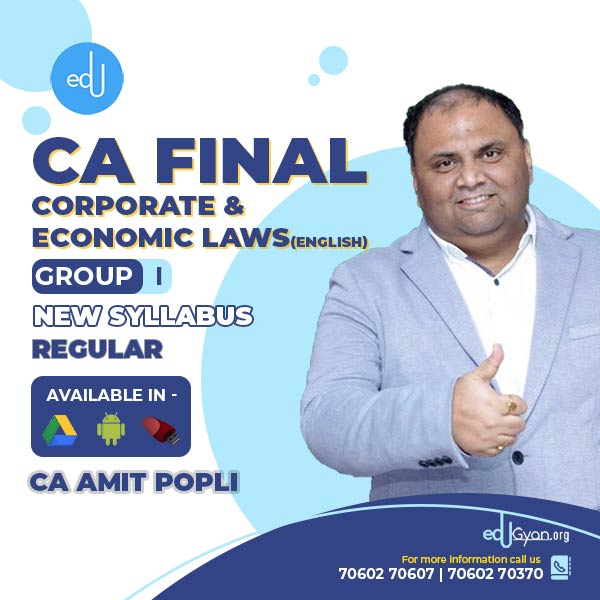 CA Final Corporate & Economic Laws By CA Amit Popli (English)