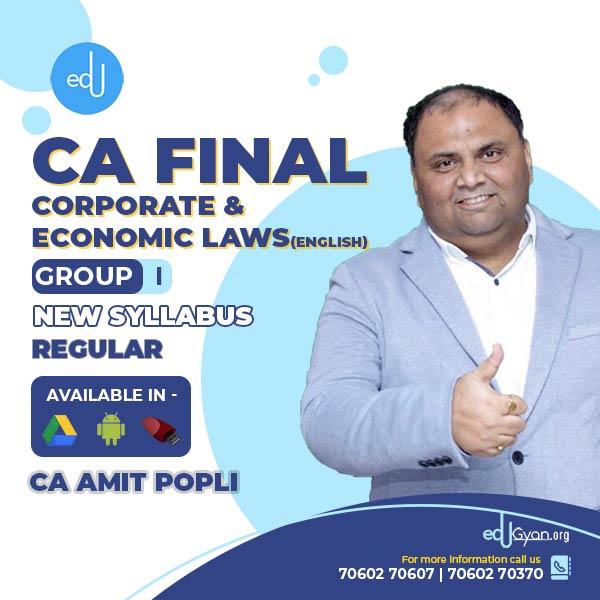 CA Final Corporate & Economic Laws By CA Amit Popli (English)