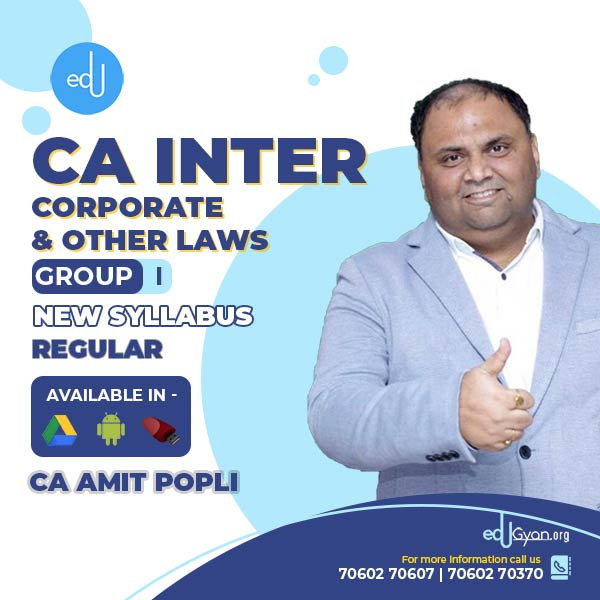 CA Inter Corporate & Other Laws By CA Amit Popli