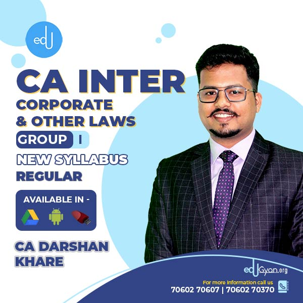 CA Inter Corporate & Other Laws By CA Darshan Khare