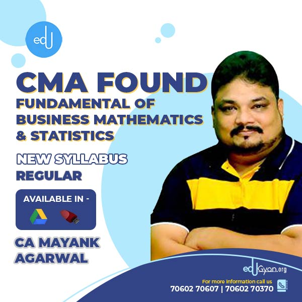 CMA Foundation Fund. Of Mathematics By CA Mayank Agarwal