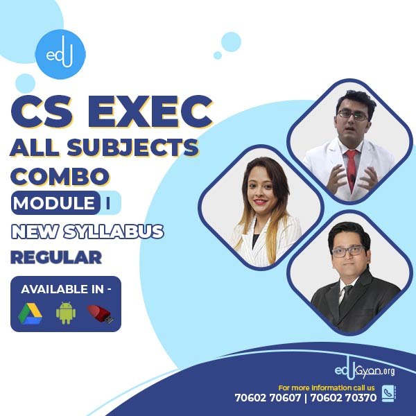 CS Executive Module- I All Subjects Combo By SAH Academy