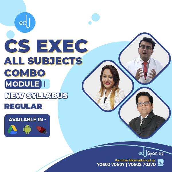 CS Executive Module- I All Subjects Combo By SAH Academy