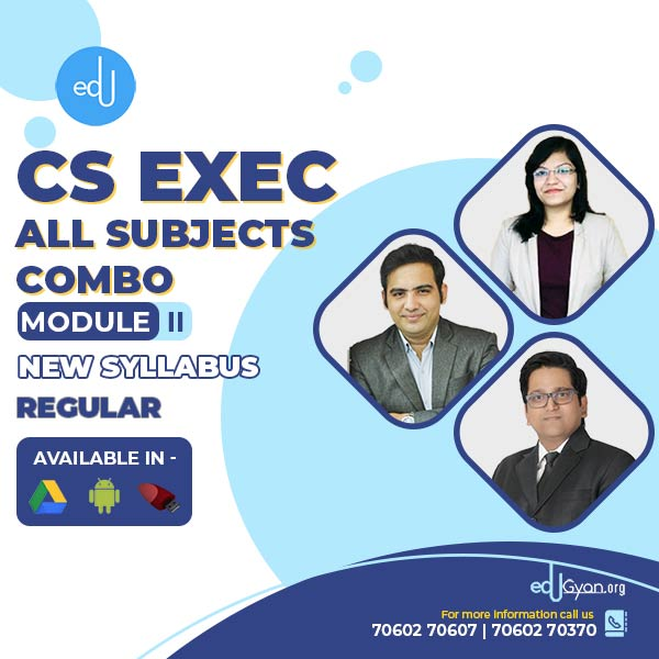 CS Executive Module- II All Subjects Combo By SAH Academy