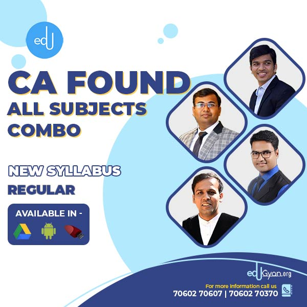 CA Foundation All Subjects Combo By A.S. Foundation